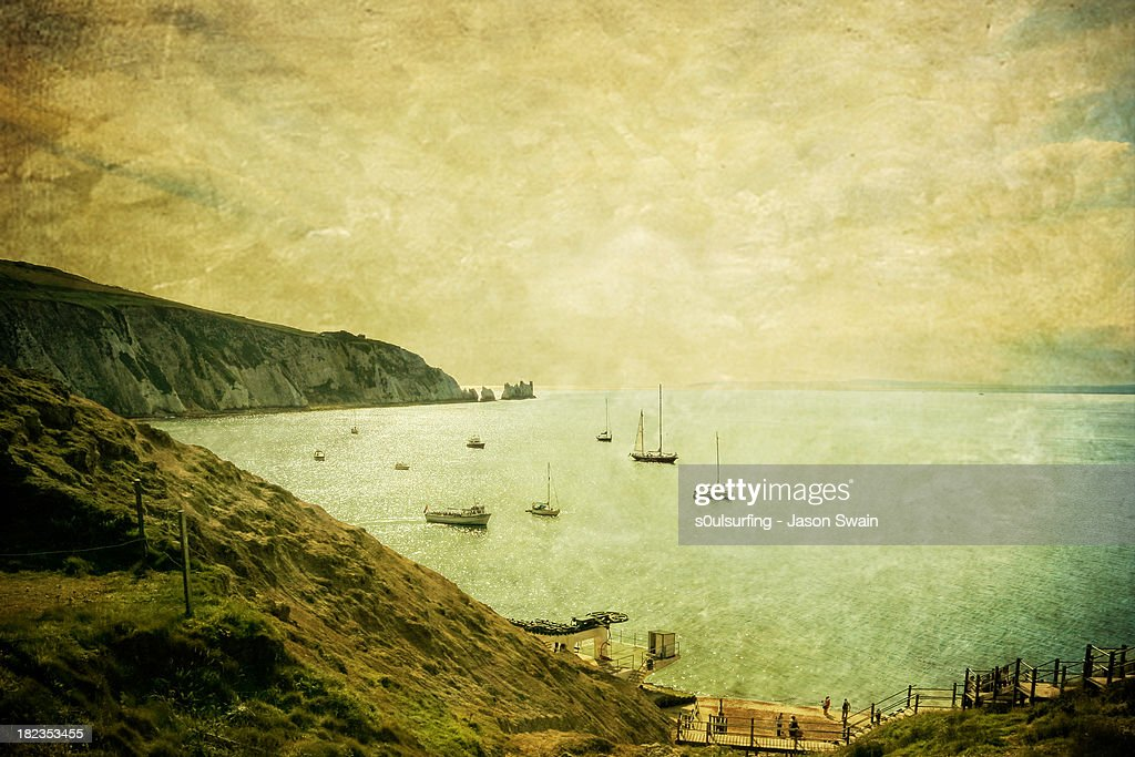 When Turner came to Alum Bay : Stock Photo