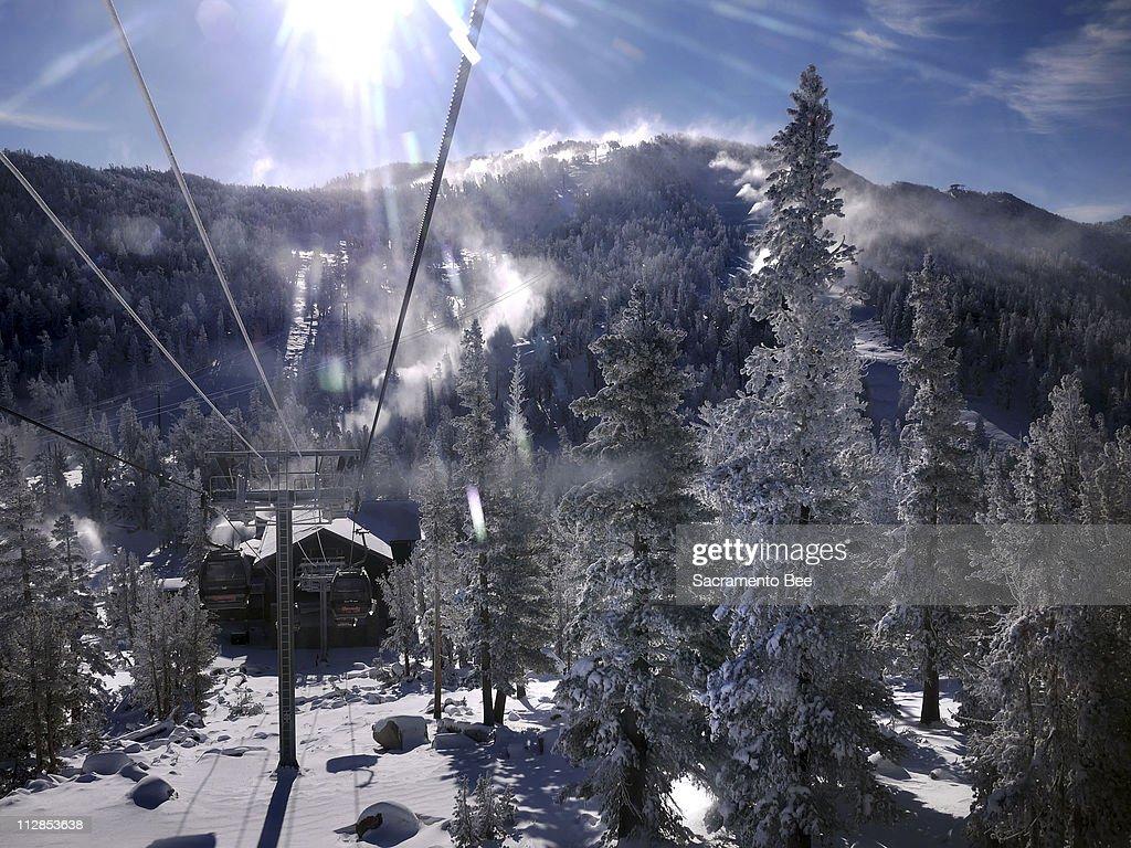 when weather allows, crews at heavenly ski resort work around the