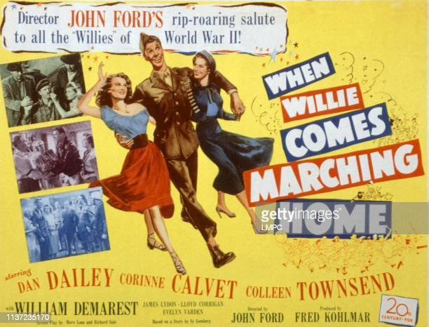 When Willie Comes Marching Home poster Corinne Calvet Dan Dailey Colleen Townsend 1950