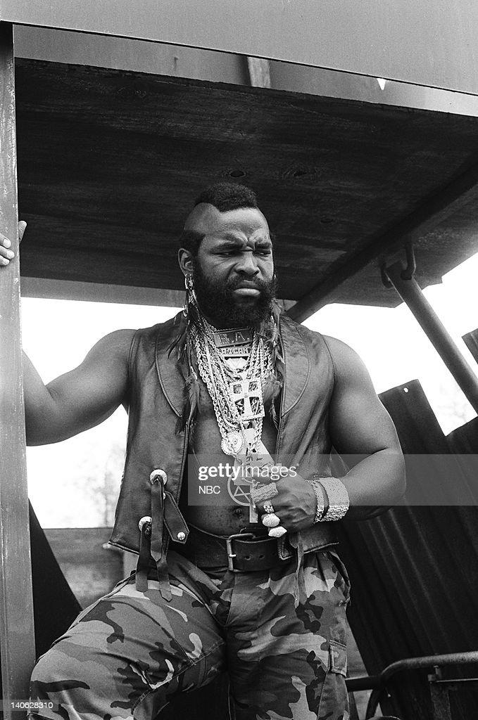 TEAM -- 'When You Comin' Back, Range Rider?: Part 1 & 2' Episode 5 &6 -- Pictured: Mr. T as B.A. Baracus -- Photo by: Frank Carroll/NBCU Photo Bank