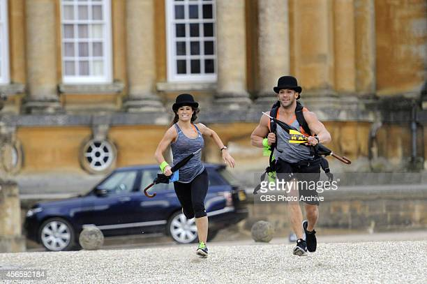 """""""When You Gotta Go, You Gotta Go""""-- Wrestlers Brooke and Robbie race to the Pit Stop at Blenheim Palace in Oxford, England, on THE AMAZING RACE, on..."""