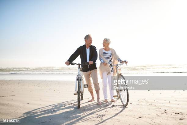 when you retired, everyday is a holiday - senior couple stock pictures, royalty-free photos & images
