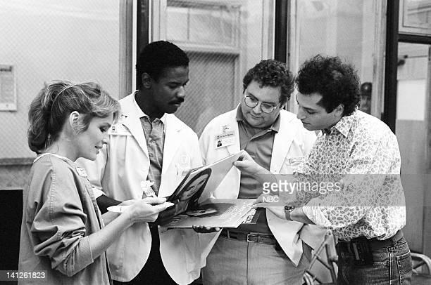 "When You Wish Upon a Scar"" Episode 2 -- Pictured: Sagan Lewis as Dr. Jacqueline Wade, Denzel Washington as Dr. Philip Chandler, Stephen Furst as Dr...."