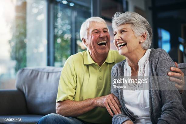 when you're laughing, you're living - senior adult stock pictures, royalty-free photos & images