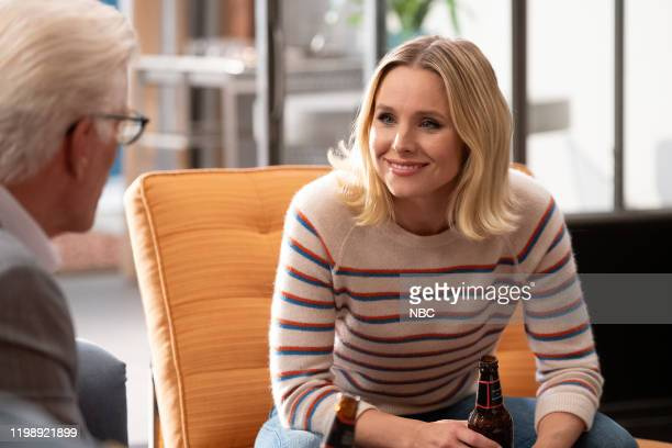 """Whenever You're Ready"""" Episode 413/414 -- Pictured: Ted Danson as Michael, Kristen Bell as Eleanor --"""