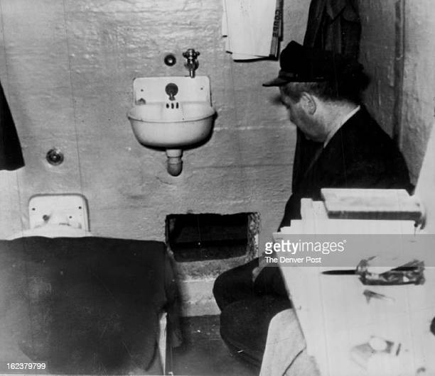 JUN 14 1962 DEC 5 1993 Where Alcatraz Prison Break Started A prison guard kneels by hole in Frank Morris' cell through which he and John and Clarence...