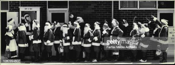 Where are the reindeer when you need them? The queue for taxis was long when more than 20 Santas visited the Deaf and Blind Children's Centre at...