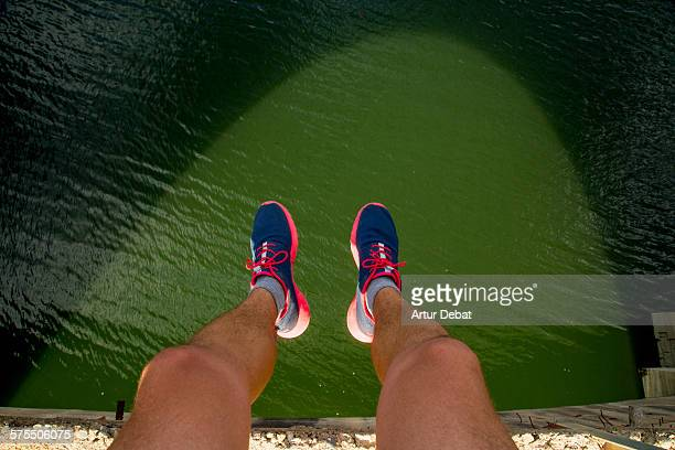 pov: where are your feet? - nike sports shoe stock pictures, royalty-free photos & images