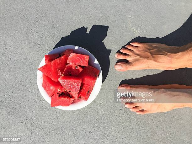 pov: where are your feet? - cyclades islands stock pictures, royalty-free photos & images