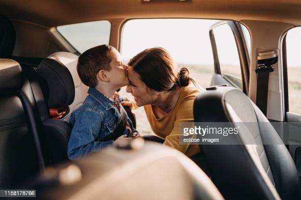 where do you want to go? - family inside car stock photos and pictures