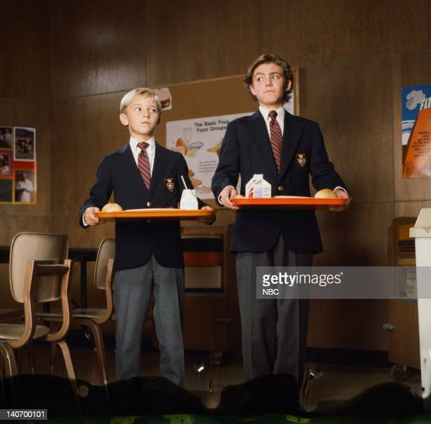 FRASIER Where Every Bloke Knows Your Name Episode 10 Pictured Michael Welch as young Niles Andrew Dorsett as young Frasier Photo by NBCU Photo Bank