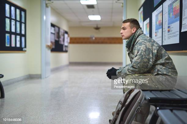 where he found his place in the world - military base stock pictures, royalty-free photos & images