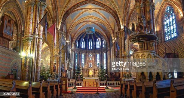 where holiness dwells - notre dame de montreal stock photos and pictures
