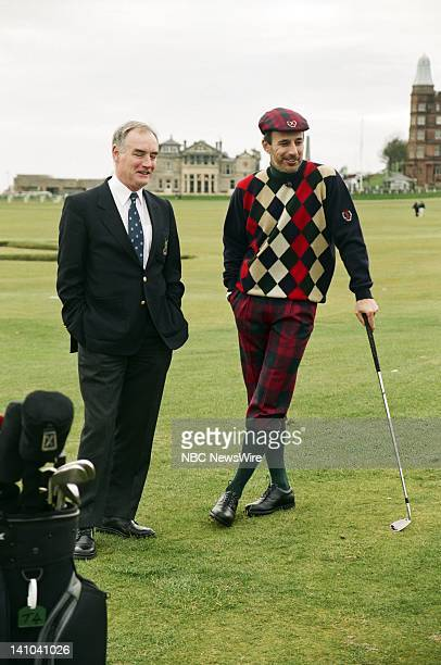 TODAY 'Where in the World is Matt Lauer 2002 St Andrews and Dornoch' Pictured Peter Mason NBC News' Matt Lauer of the St Andrews Links Trust at the...