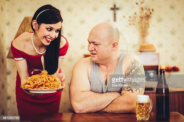 where is the love? - ugly bald man stock photos and pictures