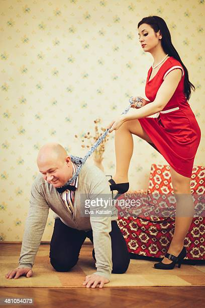 where is the love? - women dominating men stock photos and pictures