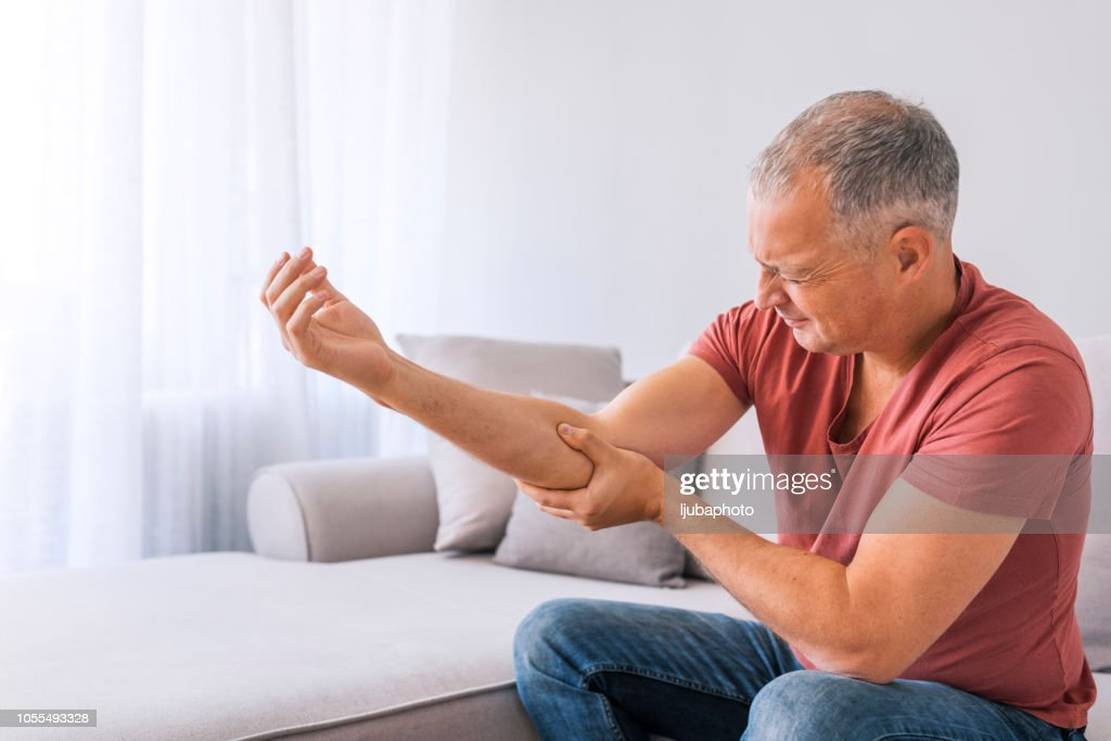 Where is this sharp pain coming from? : Stock Photo