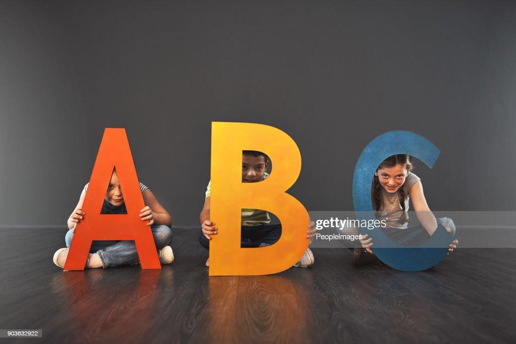 Onde começa a alfabetização : Foto de stock