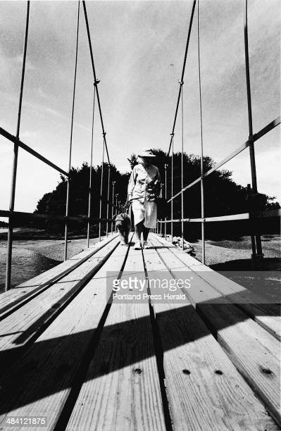where oh where yke This is a 1988 photo of the Wiggly Bridge in York that actually crosses over part of the York River The woman in the photo is...