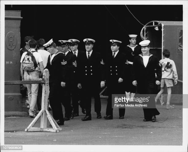 Where Sailors spend their moneyRobbie Robinsonchief missileman on HMS Illustrious tries on an Australian Akubra Hat at Wooloomooloo todaySailors...