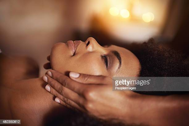 where stress ends and relaxation begins... - black massage therapist stock photos and pictures