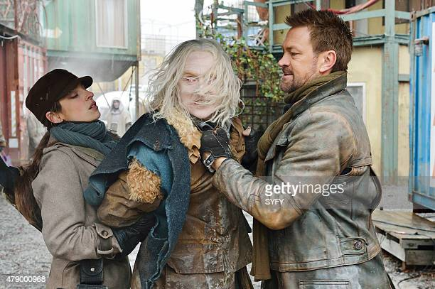 DEFIANCE Where the Apples Fell Episode 306 Pictured Anna Hopkins as Jessica Berlin Rainer Tony Curran as Datak Tarr Grant Bowler as Joshua Nolan