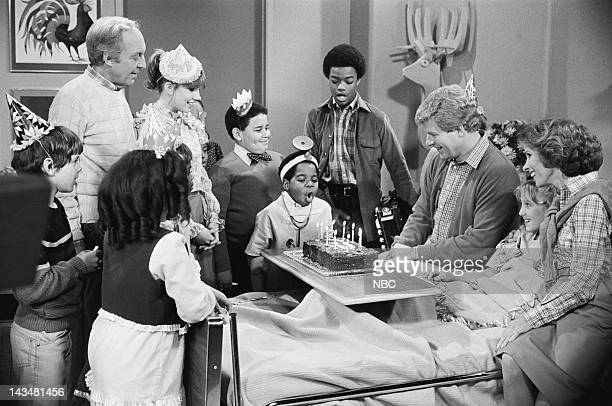 RENT STROKES Where There's Hope Episode 16 Pictured Conrad Bain as Philip Drummond Dana Plato as Kimberly Drummond Edward Neely as Chubby Gary...