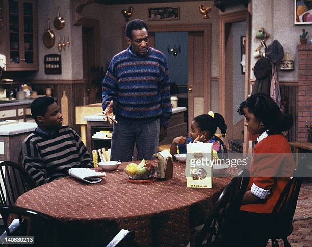 """Where's Rudy?"""" Episode 10 -- Pictured: Malcolm-Jamal Warner as Theodore 'Theo' Huxtable, Bill Cosby as Dr. Heathcliff 'Cliff' Huxtable, Keshia Knight..."""