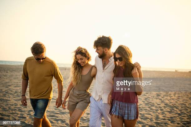 wherever are friends there is a party - spring break stock pictures, royalty-free photos & images