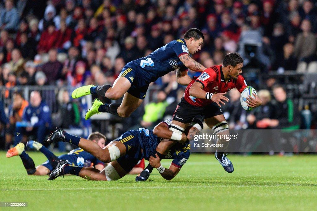 Super Rugby Rd 9 - Crusaders v Highlanders : News Photo