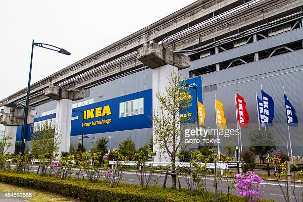 IKEA which opened in along the monorail of Tachikawa, Tokyo