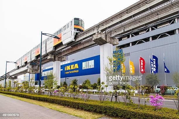 IKEA eröffnet entlang der monorail von Tachikawa, Tokio