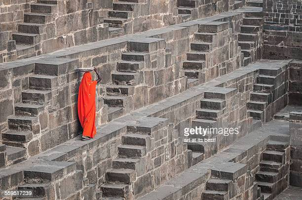 which steps to take? - chand baori stock pictures, royalty-free photos & images