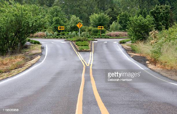 which way? - forked road stock pictures, royalty-free photos & images