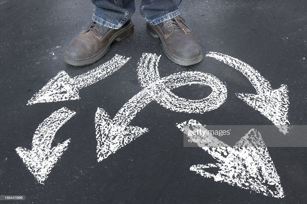 Which way to go - bends and twists : Stock Photo