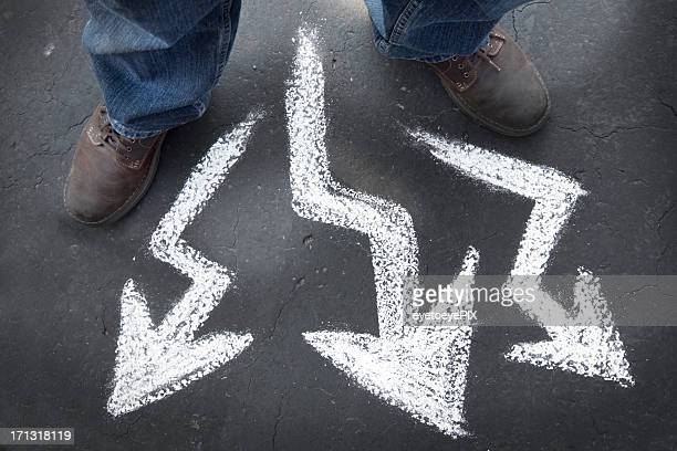 Which way to go - crooked paths and choice