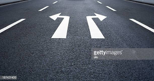 Which way to go -Road Marking, arrow signs