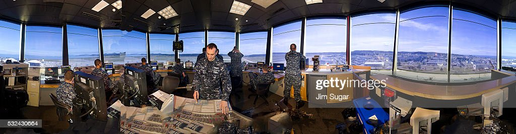 Whidbey Island NAS Control Room : Stock Photo
