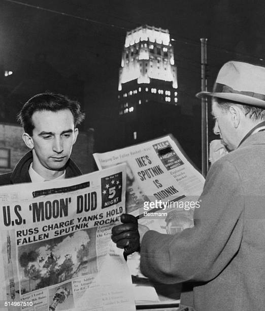 While awaiting transportation home from work here December 6th Toronto citizens read of the failure of US Vanguard missile that was launched at Cape...