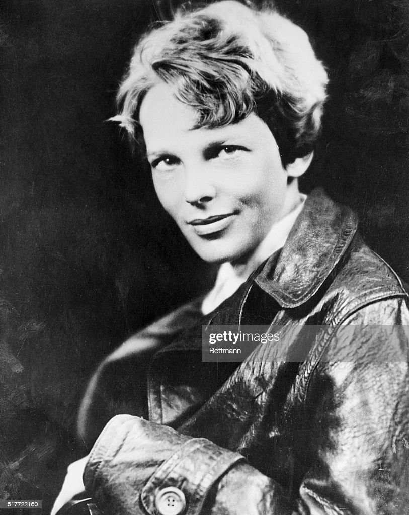 While Dame Rumor has it that Amelia Earhart, the first woman to fly the Atlantic, and George P. Putnam, publisher explorer, are to wed soon, the principals deny the reports. They are believed to have obtained a marriage license at Noank, Connecticut. Photo shows Earhart noted woman flier, whose marriage to George Putnam has been reported.