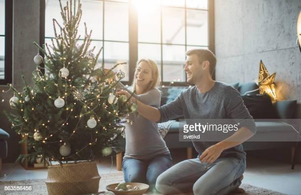 Während Weihnachten erwartet
