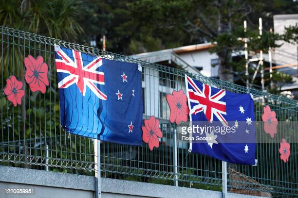 While in lockdown at home in Titirangi Stuart McFarlane and his sons Presley and Cooper made their own Anzac memorial with Nana Del McFarlaneScott on...