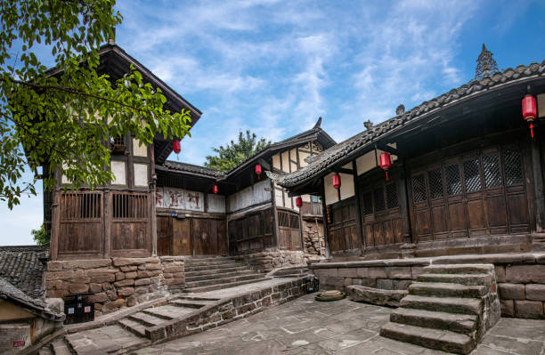 While luzhou, sichuan province gulin county town in peace