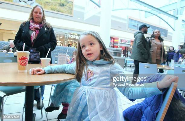 While visiting the Maine Mall for some lastminute shopping with her grandmother Barbara Philbrook left of North Berwick Emma Gagne of Rochester NH...