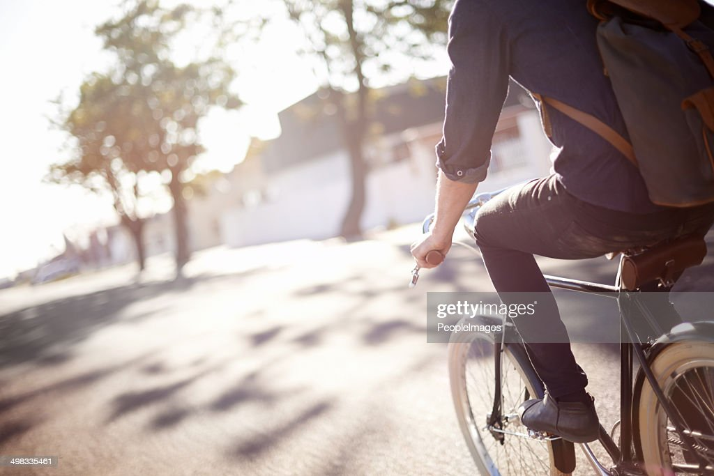 Whiling away the miles : Stock Photo