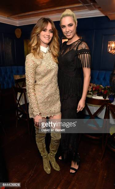 Whinnie Williams and Amber Le Bon attend Alice McCall Fall 2017 Collection Launch Vip Dinner at Albert's on February 23 2017 in London England