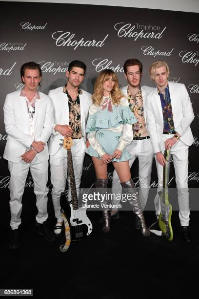 Whinnie Williams and band attend the Chopard Trophy photocall at Hotel Martinez on May 22 2017 in Cannes France