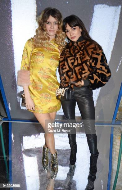 Whinnie Williams and Zara Martin attend the FENDI FF Reloaded Experience on April 12 2018 in London England