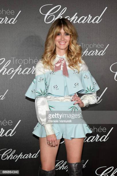 Whinnie Williams attends the Chopard Trophy photocall at Hotel Martinez on May 22 2017 in Cannes France