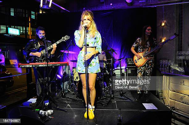 Whinnie Williams performs at Gordon Ramsay's Union Street Cafe in Southwak on October 16 2013 in London England